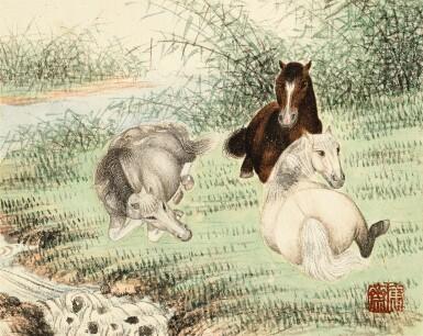 View 5. Thumbnail of Lot 3015. PU JIN; PU ZUO 溥伒、溥佐 | Landscapes and Horses 山水駿馬合璧冊.