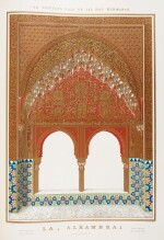 Jones and Goury. Plans, elevations, sections, and details of the Alhambra. 1842-1845, 2 volumes, folio, half cloth