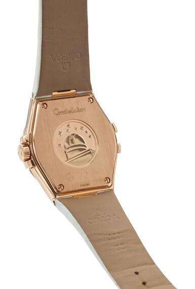 View 3. Thumbnail of Lot 8009. OMEGA   CONSTELLATION, REFERENCE 123.53.35.60.52.001,  A PINK GOLD AND DIAMOND-SET WRISTWATCH WITH DATE, CIRCA 2014.