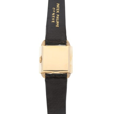 View 4. Thumbnail of Lot 141. REFERENCE 2425 'SKATER' A PINK GOLD SQUARE WRISTWATCH, MADE IN 1947.