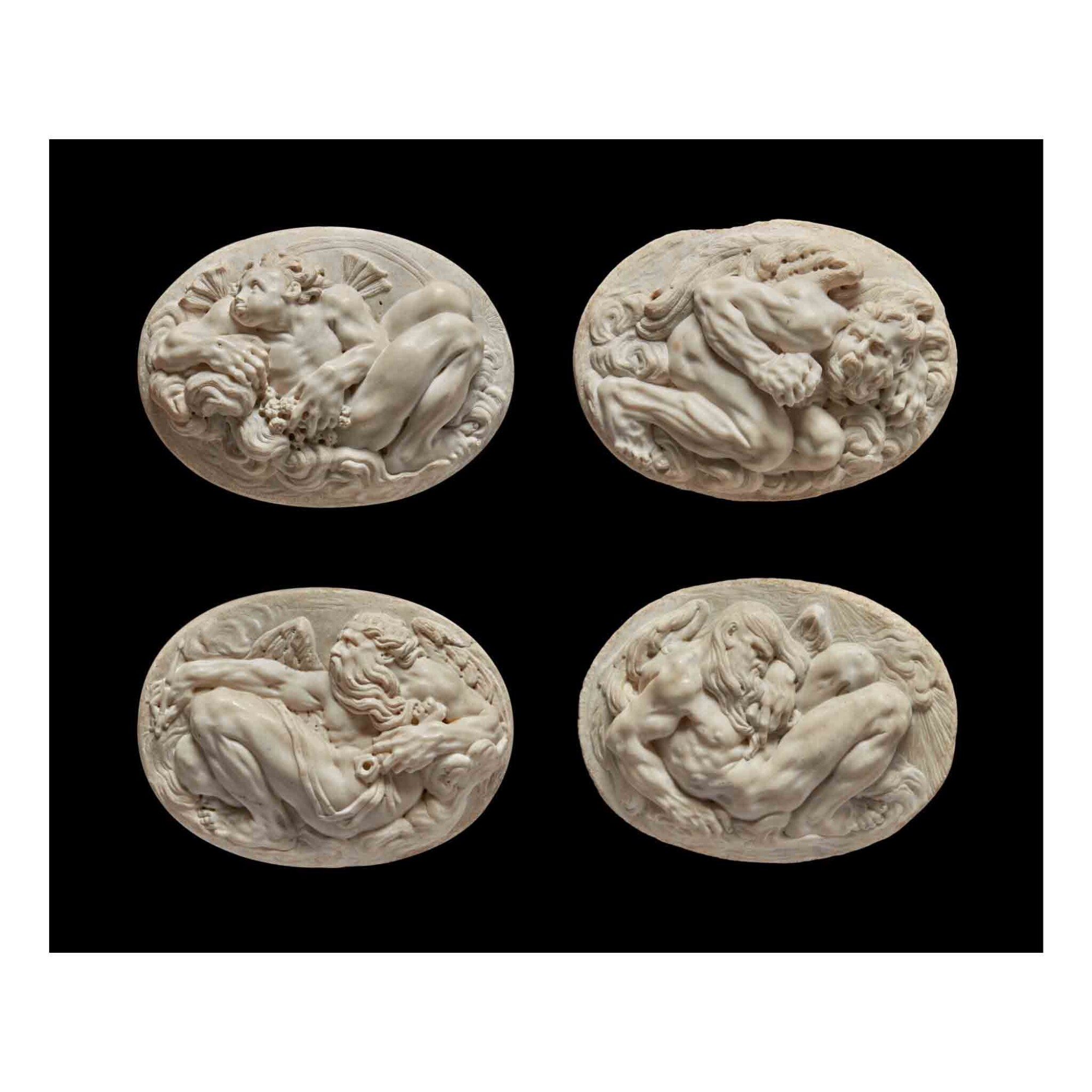 View full screen - View 1 of Lot 117.  Four Reliefs with Personifications of the Winds.