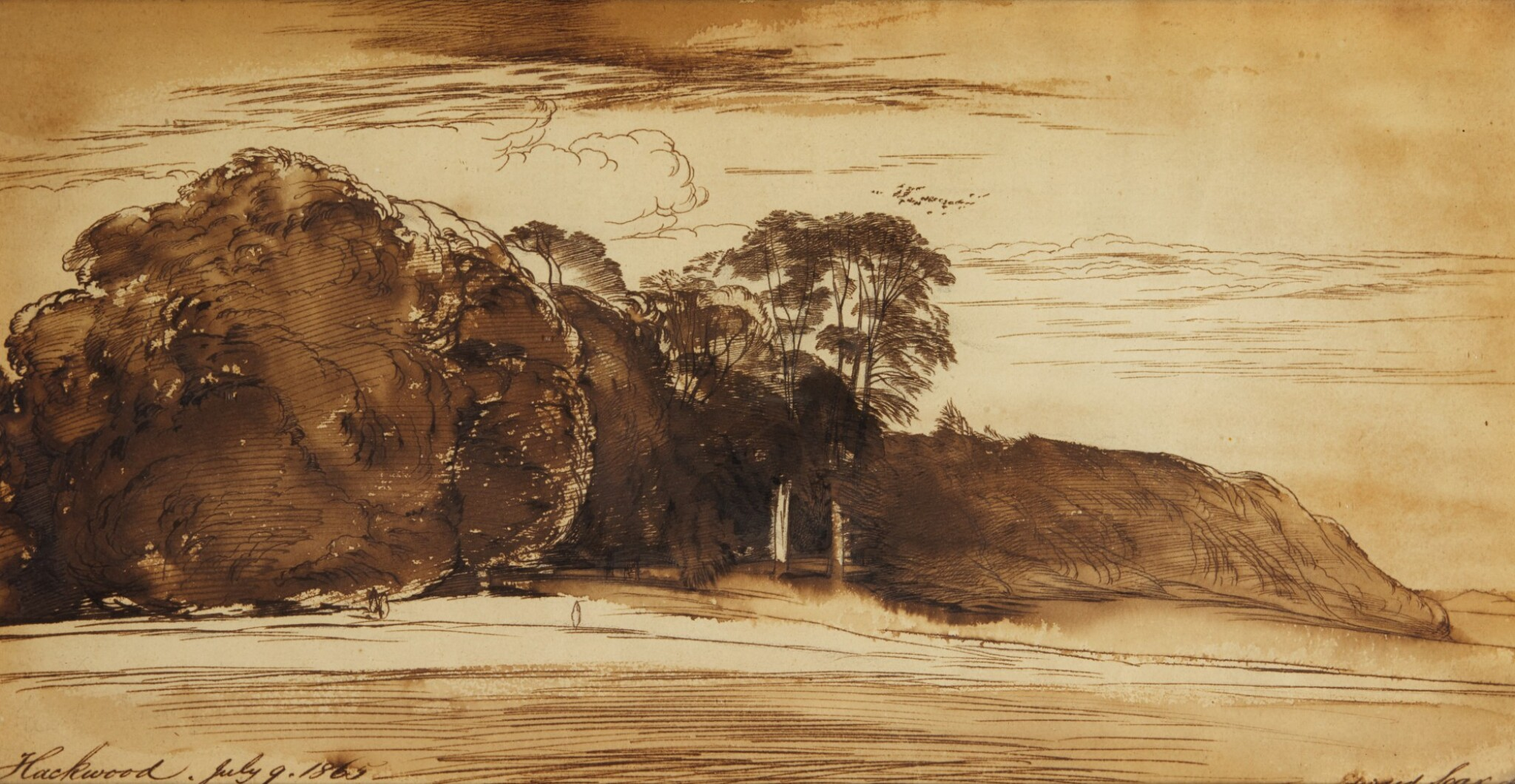 View full screen - View 1 of Lot 76. EDWARD LEAR | Hackwood Park, Hampshire.
