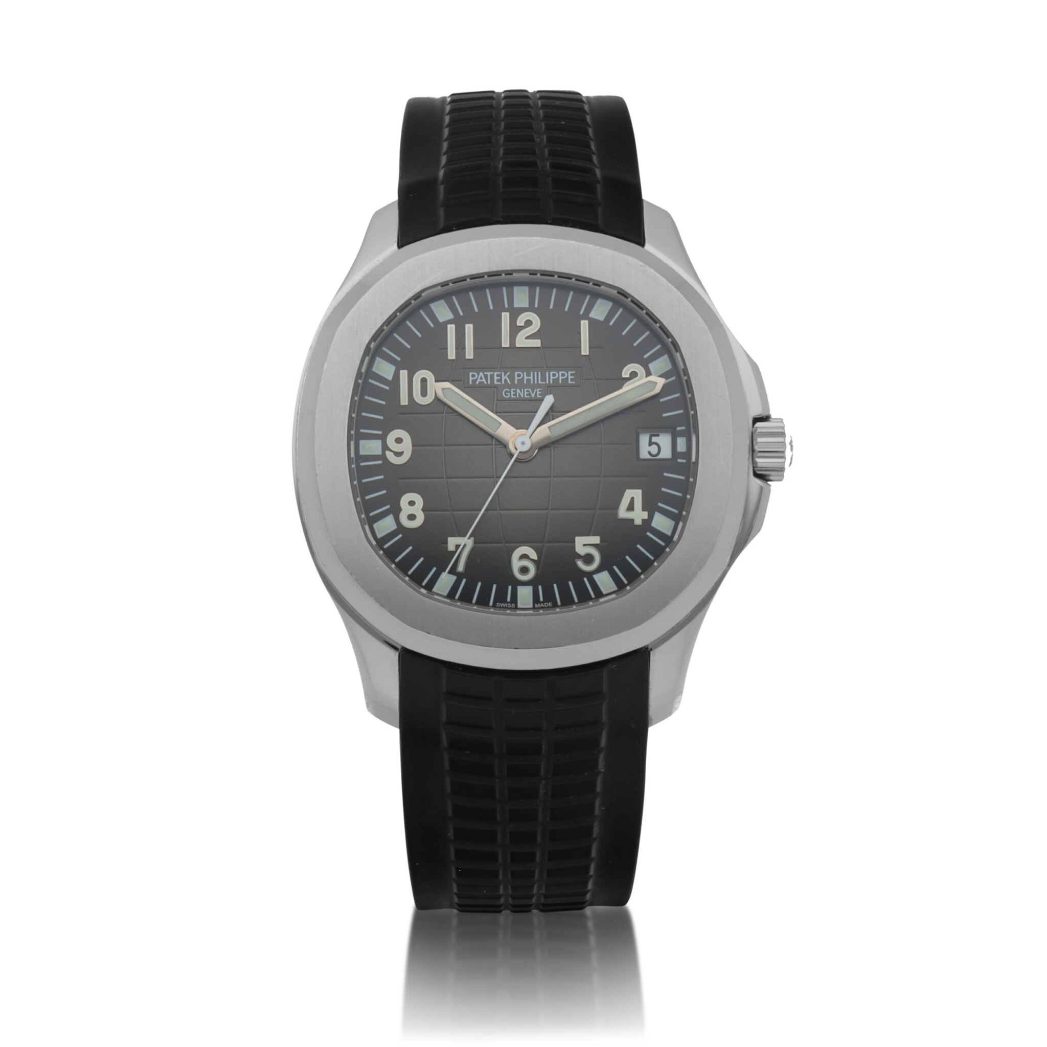 View full screen - View 1 of Lot 401. Aquanaut, Ref. 5167A Stainless steel wristwatch with date Circa 2018 | 百達翡麗 5167A型號「Aquanaut」精鋼腕錶備日期顯示,年份約2018.