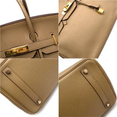 View 6. Thumbnail of Lot 31. HERMÈS | CARDAMOME BIRKIN 35 IN TAURILLION CLEMENCE LEATHER WITH GOLD HARDWARE, 2008.