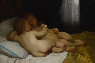 View 1. Thumbnail of Lot 202. Les enfants endormis (réduction).