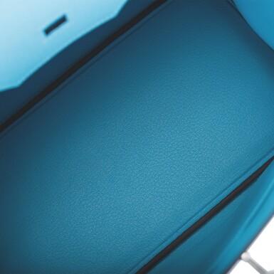 View 8. Thumbnail of Lot 63. Hermès Bleu Du Nord Birkin 30cm of Epsom Leather with Palladium Hardware.