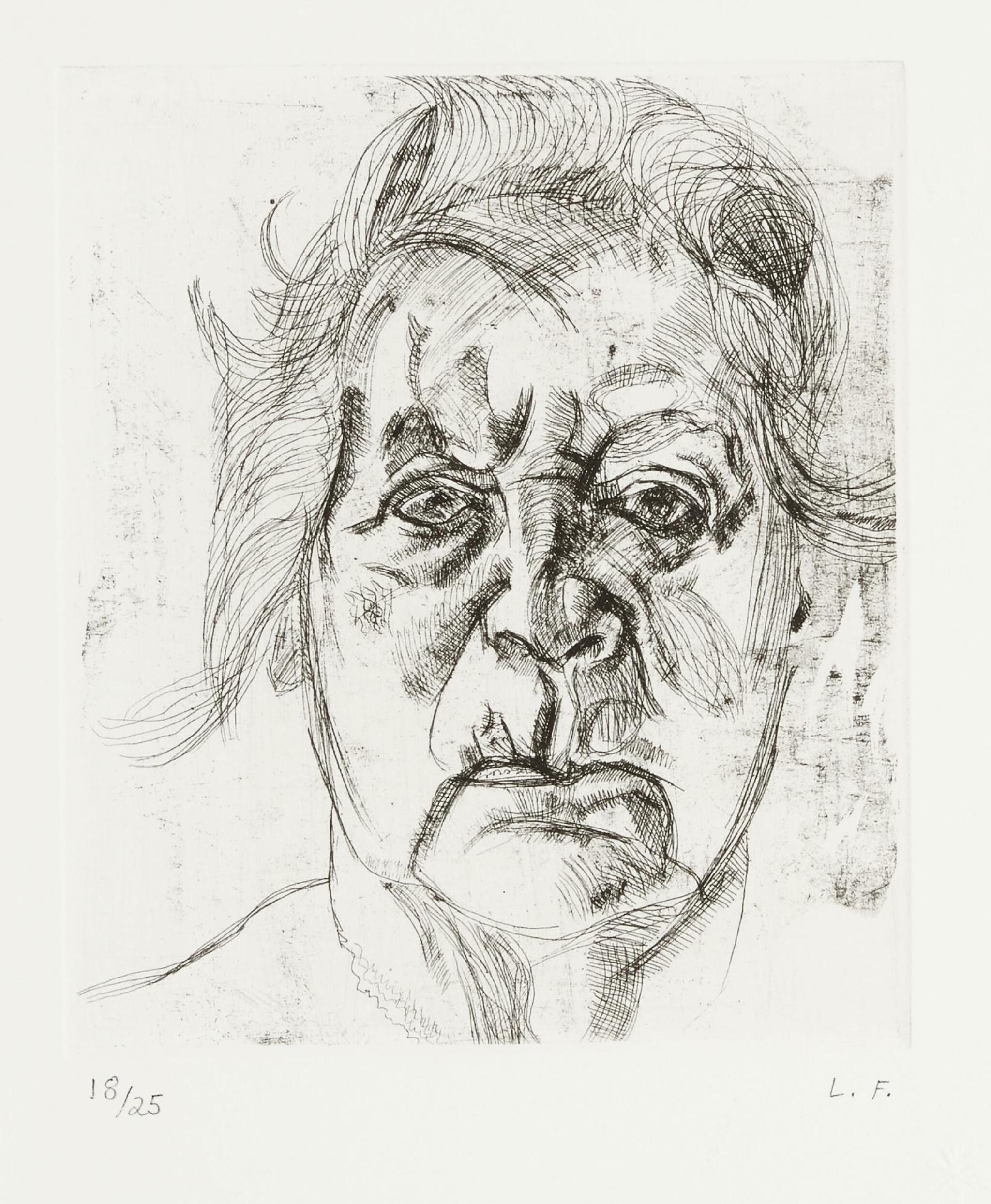 View full screen - View 1 of Lot 105. LUCIAN FREUD | THE PAINTER'S MOTHER (FINAL VERSION) (H. 20; F. 22).
