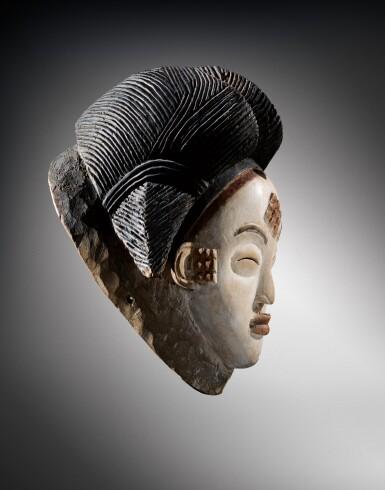 View 3. Thumbnail of Lot 41. Masque, Punu, Gabon | Punu mukuya mask.