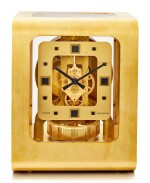 JAEGER-LECOULTRE | ATMOS, REFERENCE 5921, A RED-GOLD PLATED BRASS ATMOS CLOCK, CIRCA 1975