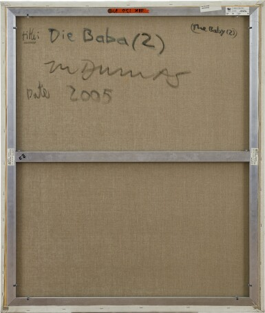 View 4. Thumbnail of Lot 1122. MARLENE DUMAS 瑪琳 · 杜馬斯 | DIE BABA (2) (THE BABY (2)) 嬰兒(2).
