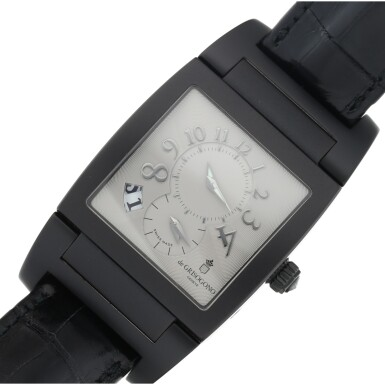 View 6. Thumbnail of Lot 223. REFERENCE UNO/DF A BLACK COATED STAINLESS STEEL DUAL TIME RECTANGULAR WRISTWATCH, CIRCA 2010.