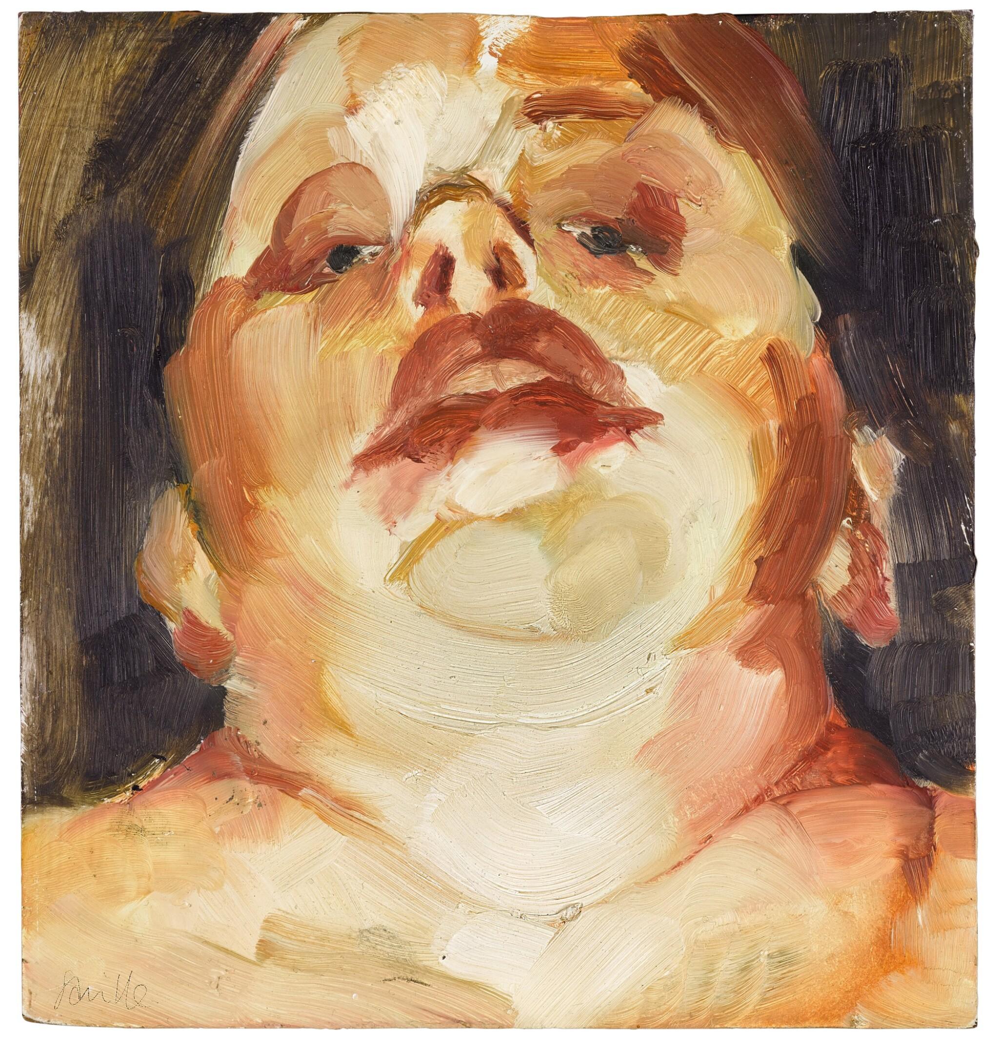 View full screen - View 1 of Lot 16. Self-Portrait (Head Study).