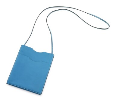 Light blue leather shoulder bag, Onimateau, Hermès, 2007