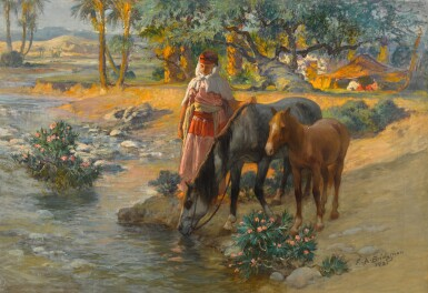 View 1. Thumbnail of Lot 151. Watering the Horses.