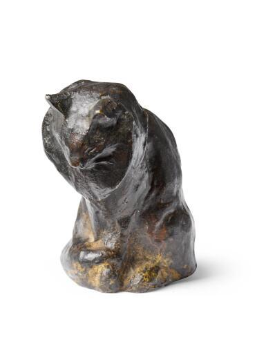 THÉOPHILE ALEXANDRE STEINLEN | CHAT ANGORA ASSIS (SEATED ANGORA CAT)
