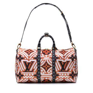 View 4. Thumbnail of Lot 318. Caramel and Cream Crafty Keepall Bandouliere 45cm in Monogram Giant Coated Canvas with Gold Tone Hardware, 2020.