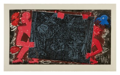 View 1. Thumbnail of Lot 32. JÖRG IMMENDORFF   RAUB DER SABINERIN [ROBBERY OF THE SABINES] .
