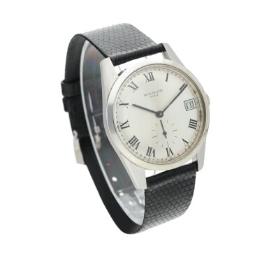 View 2. Thumbnail of Lot 235. Reference 3558G A white gold wristwatch with date, Made in 1971 .