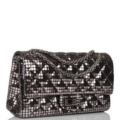 View 2. Thumbnail of Lot 96. CHANEL    MIRROR MEDIUM 2.55 REISSUE DOUBLE FLAP BAG OF CALFSKIN LEATHER WITH SILVER HARDWARE.