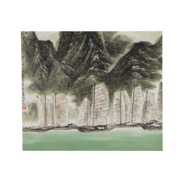 View 1. Thumbnail of Lot 1077.  HE HUAISHUO (HO HUAI-SHUO, B.1941) | PASSAGE.