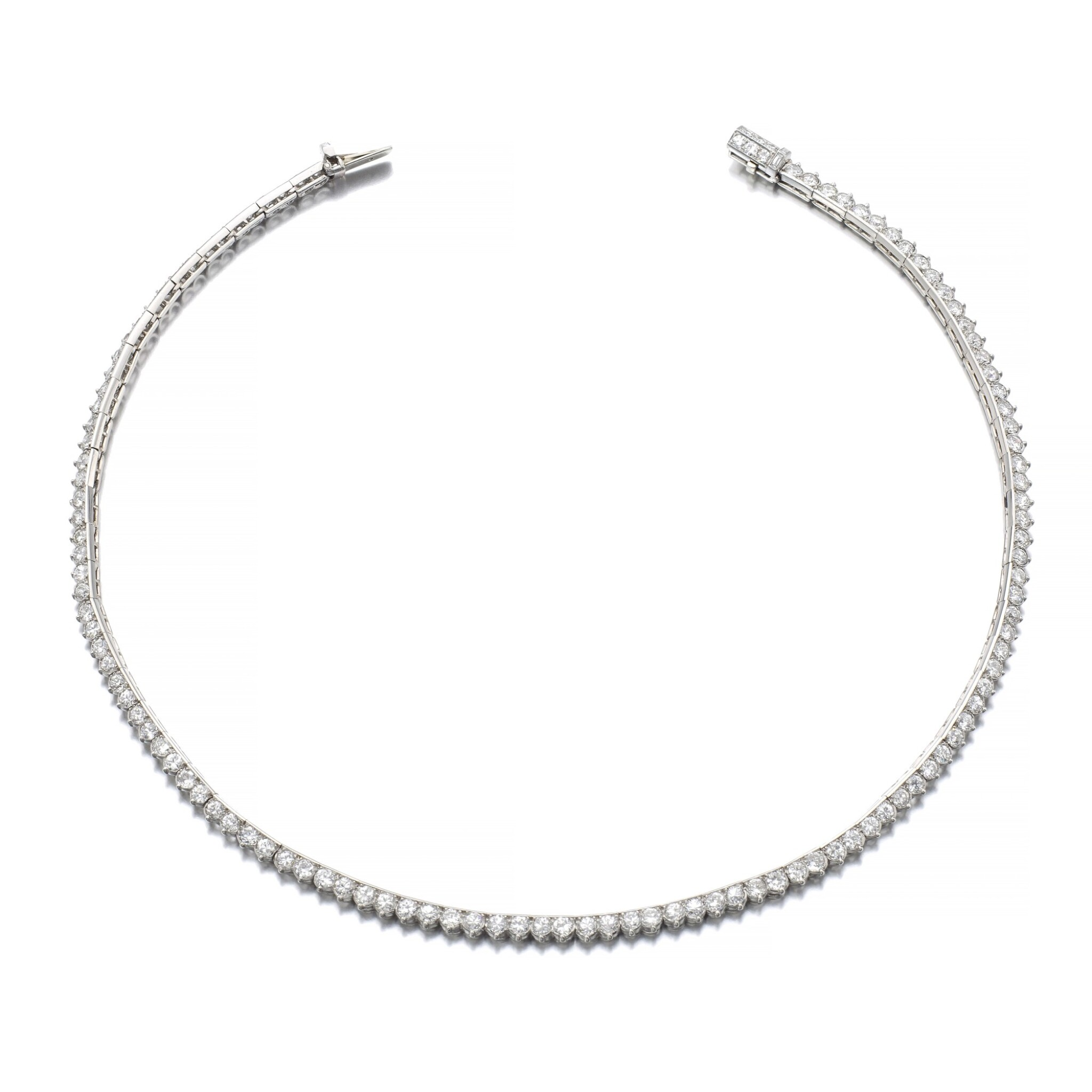 View full screen - View 1 of Lot 1220. Diamond necklace.