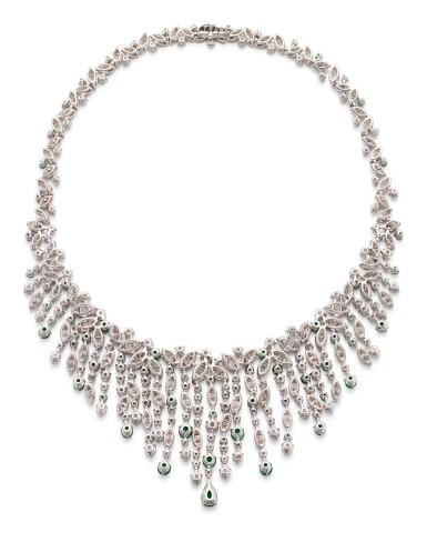 View 4. Thumbnail of Lot 1037. 'Rhythm' Emerald and Diamond Necklace | 格拉夫| 'Rhythm' 祖母綠 配 鑽石 項鏈 (祖母綠及鑽石共重約12.20及34.80克拉).