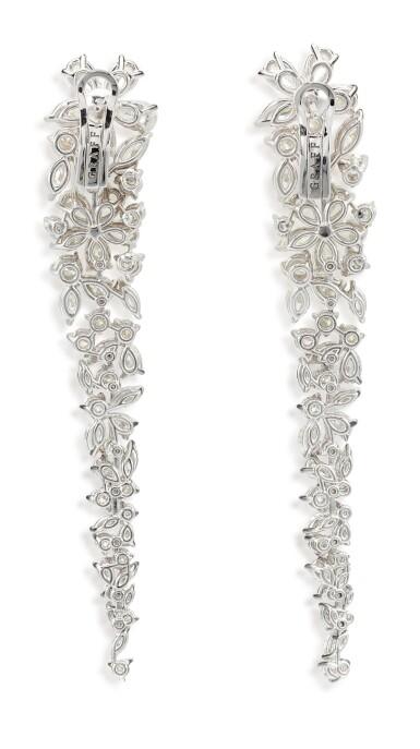 View 4. Thumbnail of Lot 1070. 'Carissa' Pair of Diamond Pendent Earrings | 格拉夫| 'Carissa' 鑽石耳墜一對 (鑽石共重約20.20克拉).