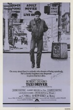 Taxi Driver (1976) poster, US, signed by Martin Scorsese