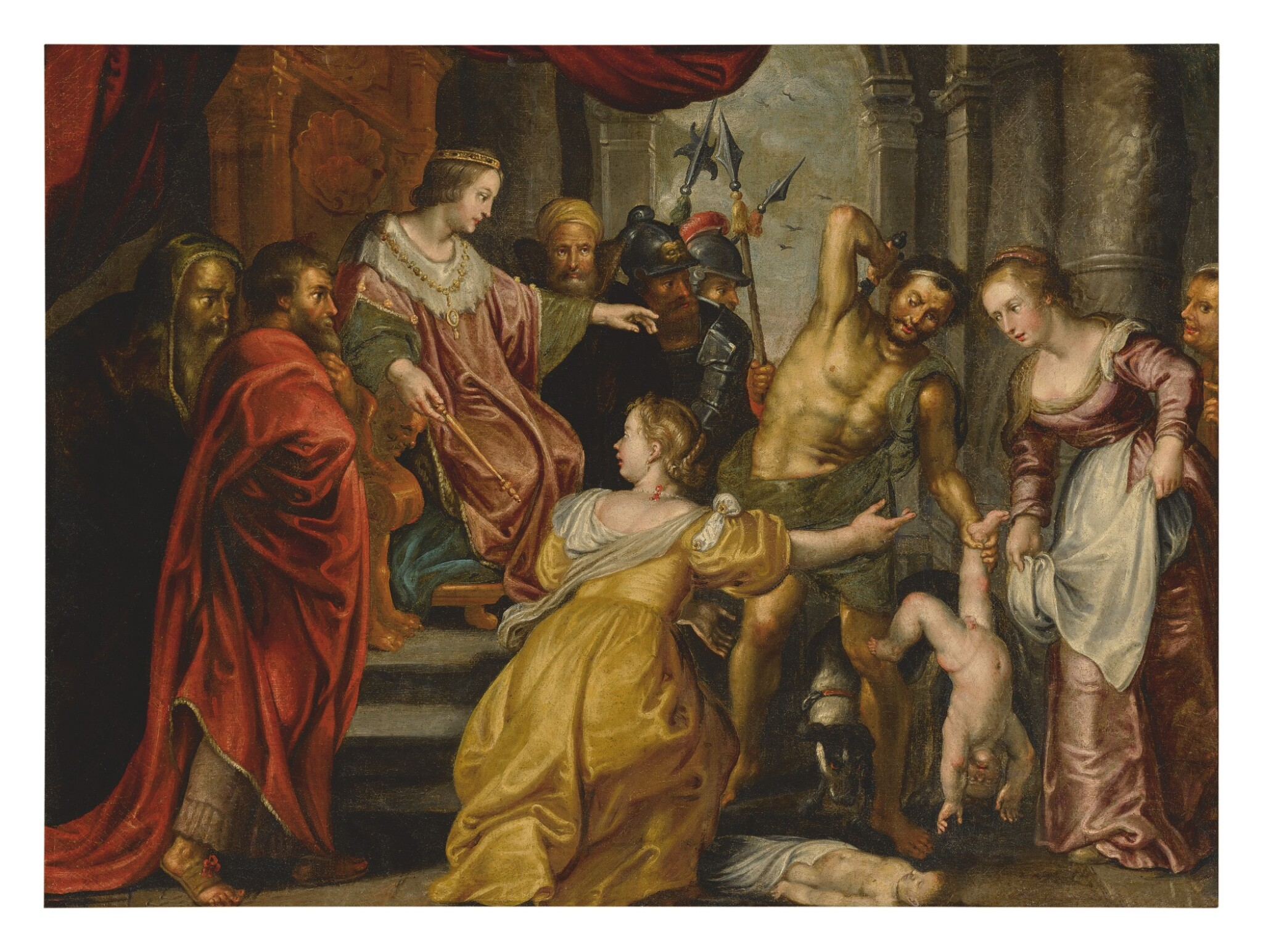 View full screen - View 1 of Lot 521. AFTER SIR PETER PAUL RUBENS | THE JUDGEMENT OF SOLOMON.