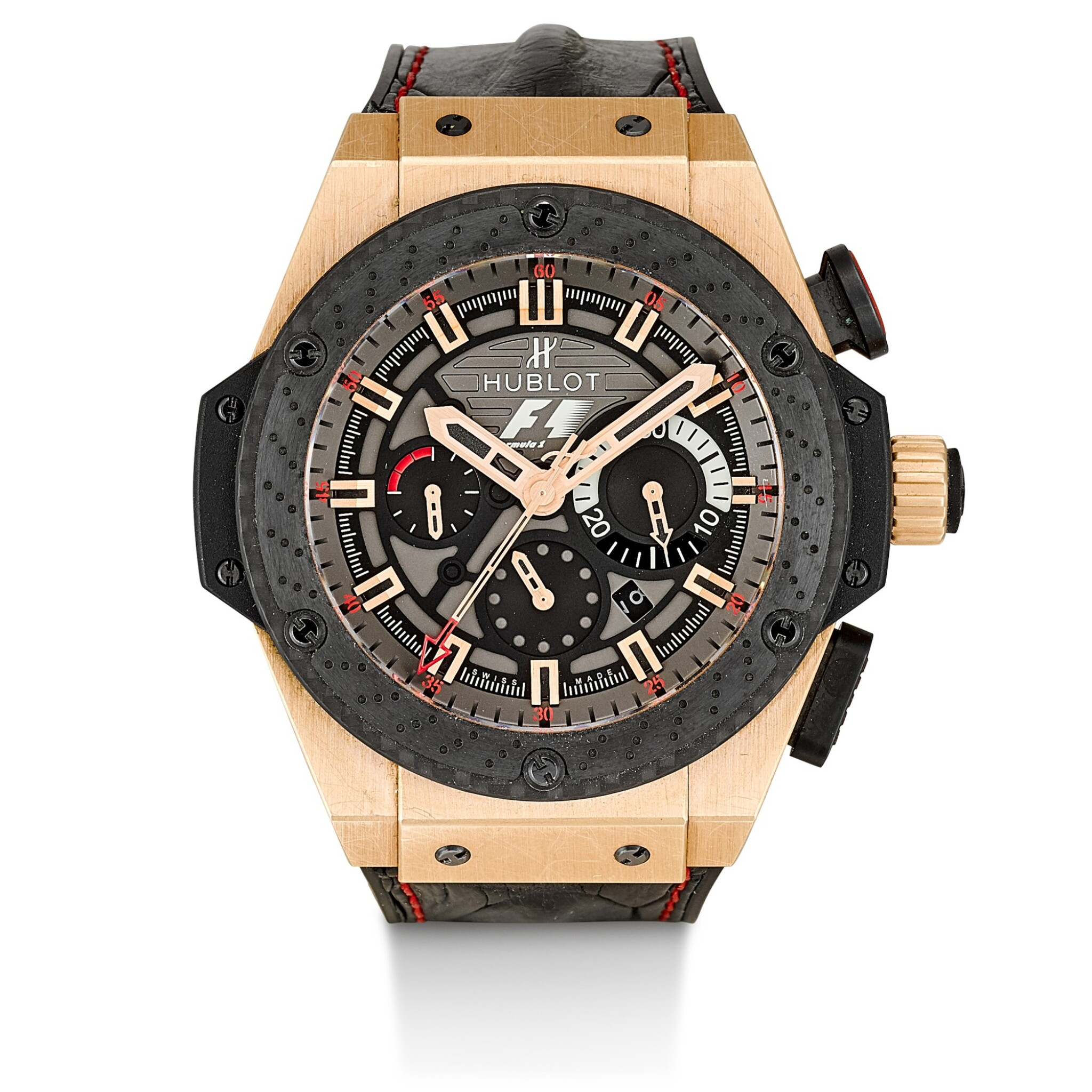View 1 of Lot 168. HUBLOT | BIG BANG KING POWER, REFERENCE 703.OM.6912.HR.FMC12, A LIMITED EDITION PINK GOLD AND TITANIUM CHRONOGRAPH WRISTWATCH WITH DATE, CIRCA 2012.