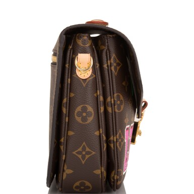 View 4. Thumbnail of Lot 114.  Louis Vuitton Monogram Patches Pochette Metis of Coated Canvas with Golden Brass Hardware.
