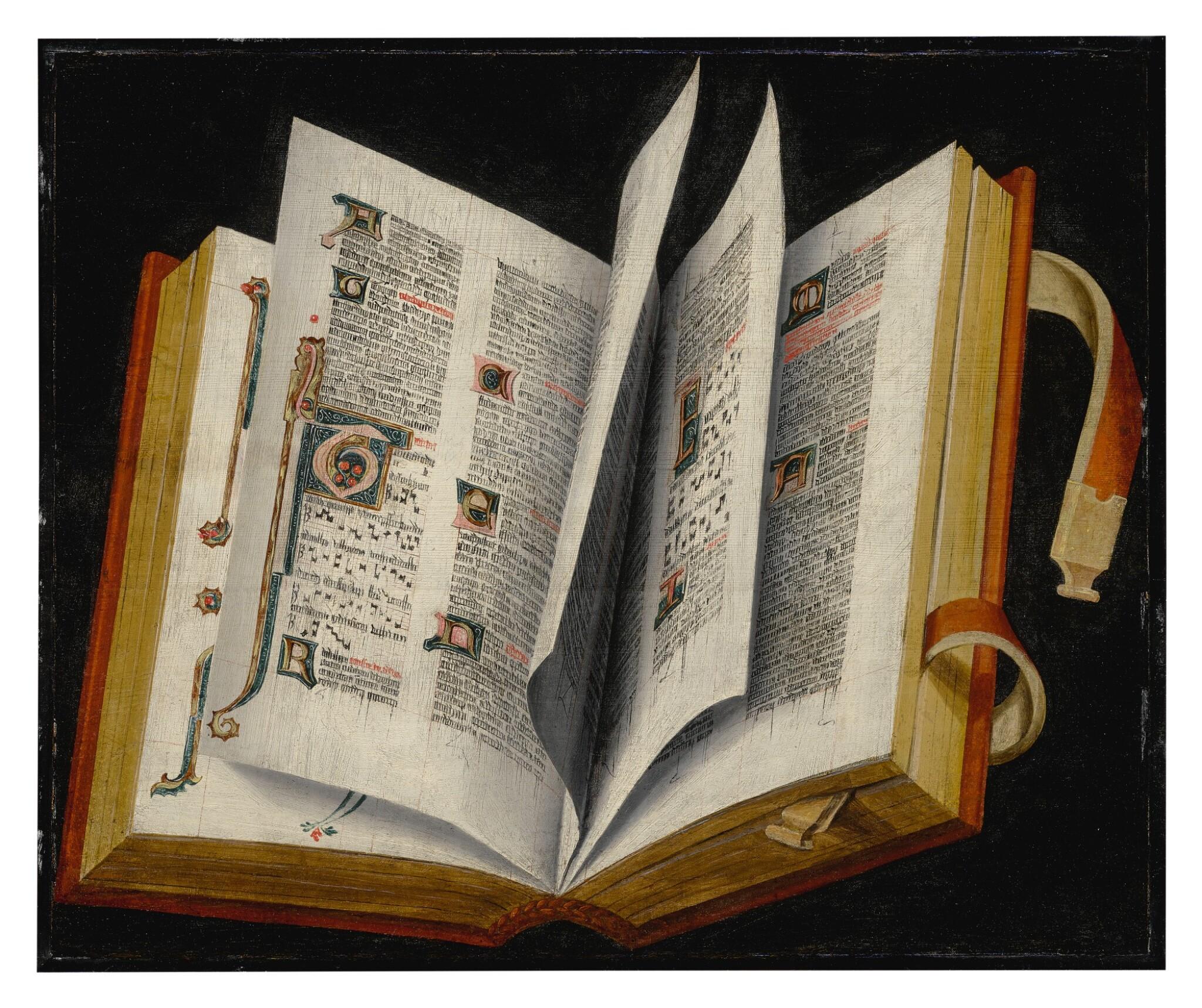Still life of an illuminated manuscript