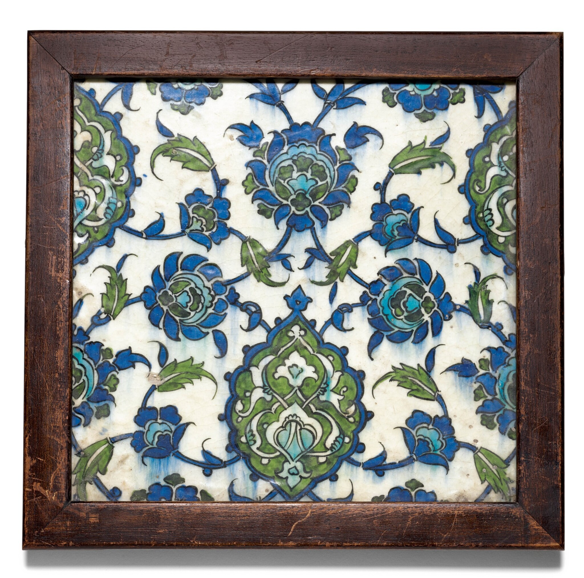 View full screen - View 1 of Lot 50. A DAMASCUS POTTERY TILE, SYRIA, LATE 16TH/EARLY 17TH CENTURY.
