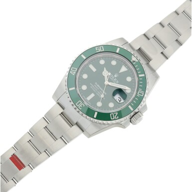 View 6. Thumbnail of Lot 7. REFERENCE 116610LV SUBMARINER 'HULK' A STAINLESS STEEL AUTOMATIC WRISTWATCH WITH DATE AND BRACELET, CIRCA 2020.