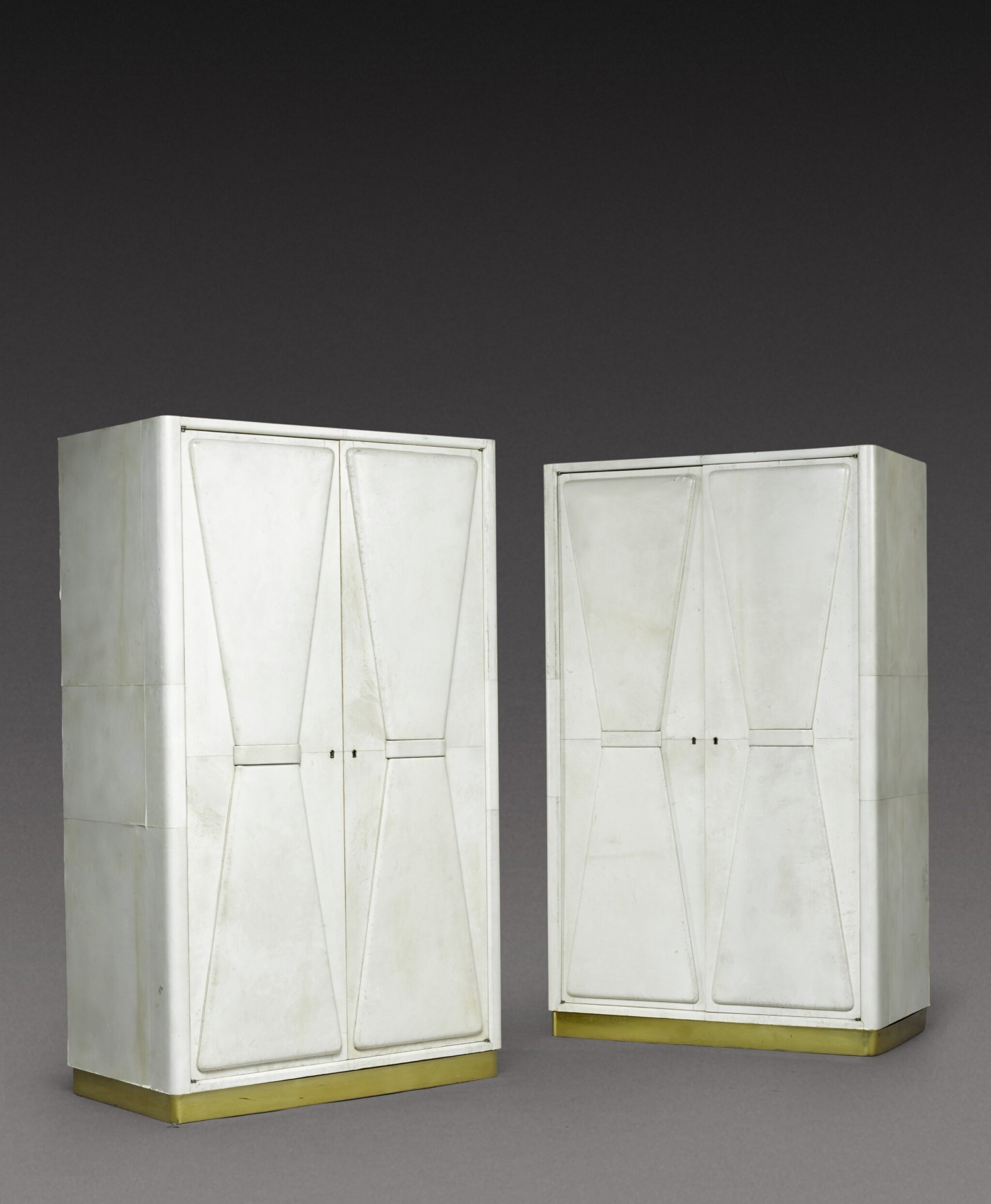 View 1 of Lot 192. A Pair of Art Deco wardrobes.