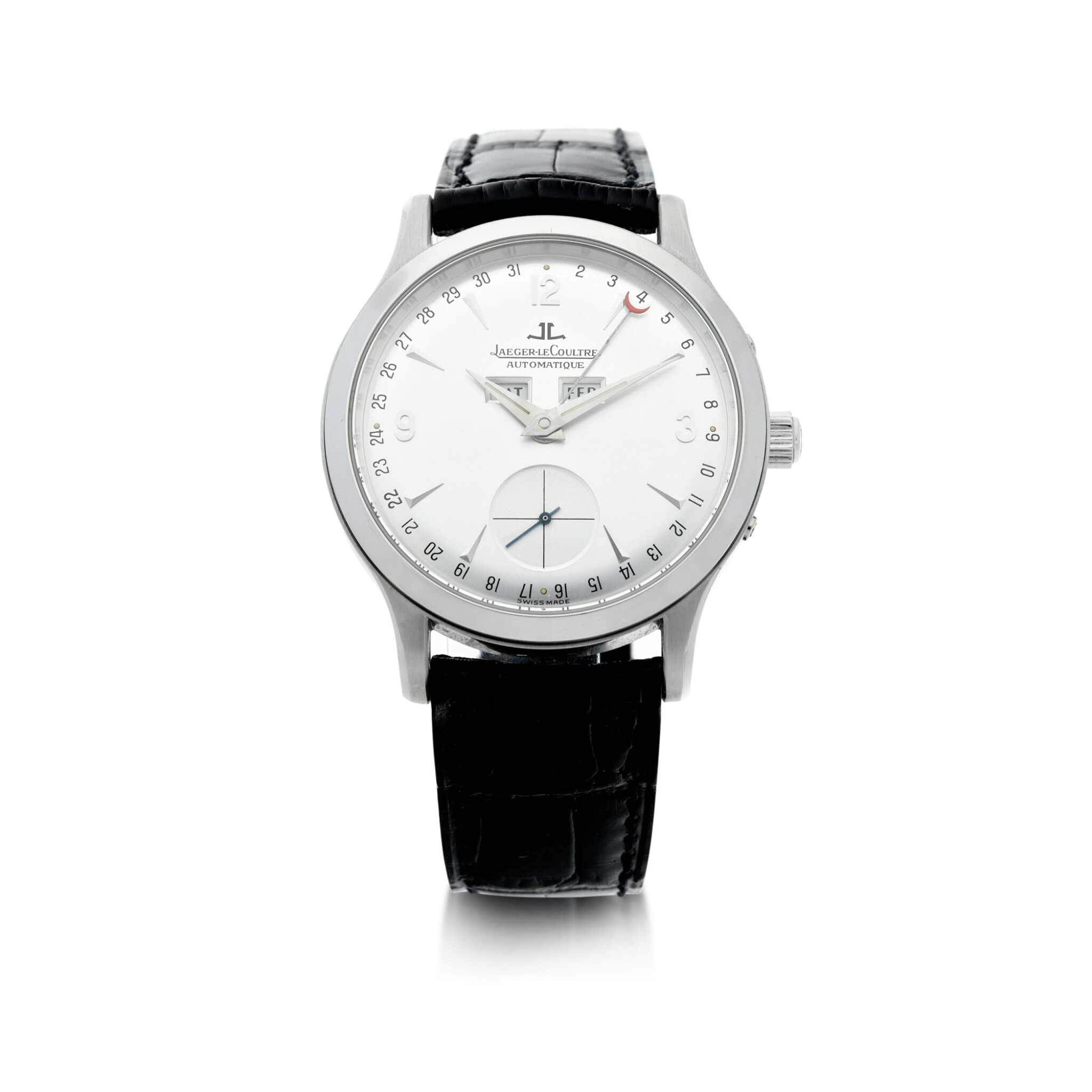 View full screen - View 1 of Lot 242. REFERENCE 140.640.872 MASTER CONTROL A PLATINUM AUTOMATIC TRIPLE CALENDAR WRISTWATCH, CIRCA 1996.