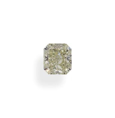 A 1.39 Carat Cut-Cornered Rectangular Modified Brilliant-Cut Diamond, W-X Color, SI1 Clarity