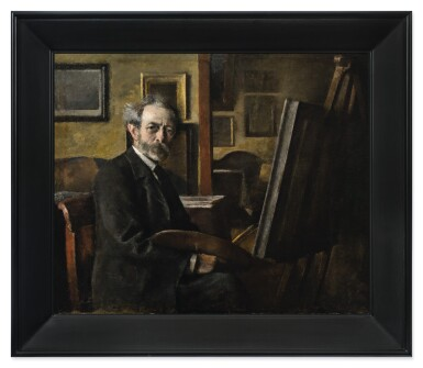 View 3. Thumbnail of Lot 136. PETER ALFRED SCHOU  |  SELF PORTRAIT.