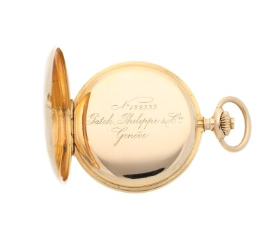View 5. Thumbnail of Lot 35. PATEK PHILIPPE |  A PINK GOLD HUNTING CASED WATCH, MADE IN 1902.