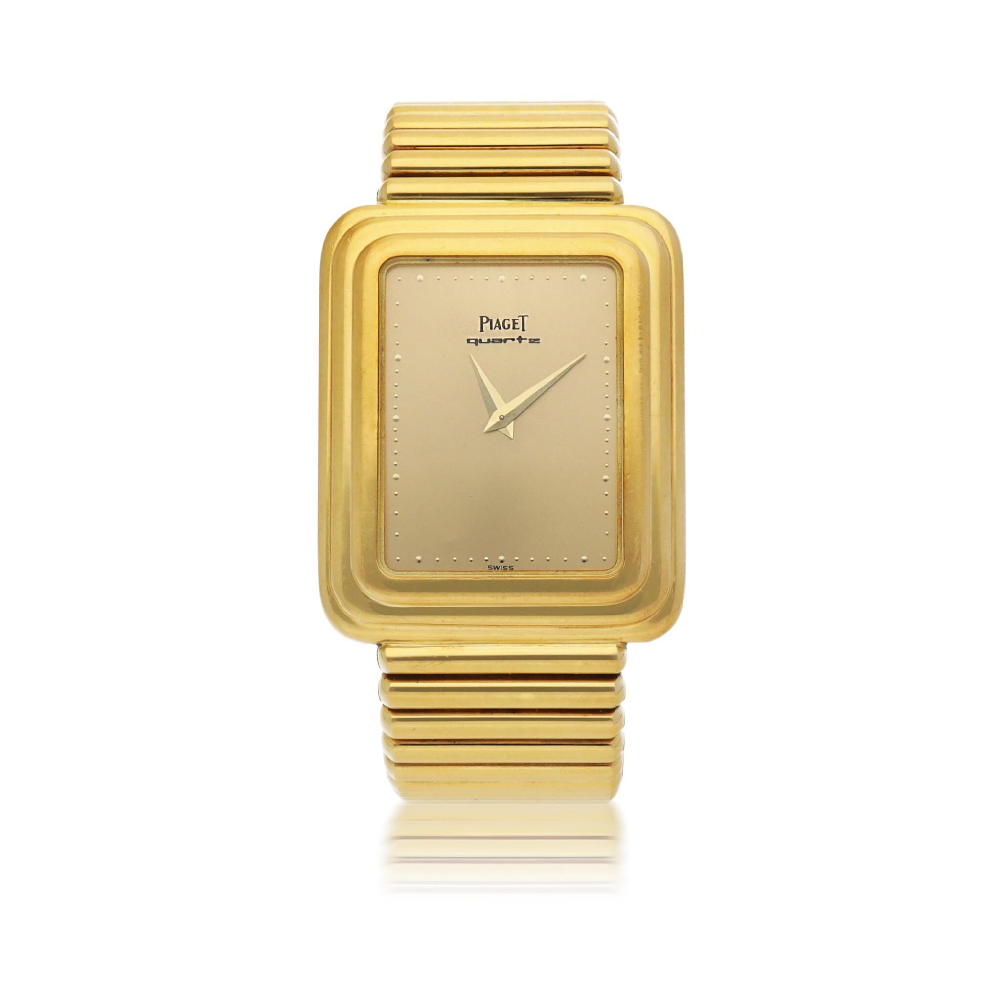 PIAGET | REF 74121 YELLOW GOLD BRACELET WATCH CIRCA 1980