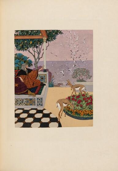 View 1. Thumbnail of Lot 222. CARRÉ – TOUSSAINT. Le Jardin des caresses. 1914. Ex. sur Japon impérial. Rel. arabisante de Levitzky.
