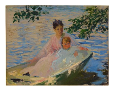 EDMUND CHARLES TARBELL | MOTHER AND CHILD IN A BOAT