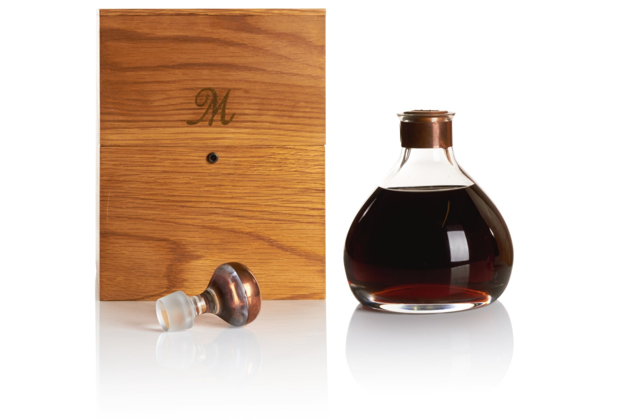 View full screen - View 1 of Lot 174. THE MACALLAN MILLENNIUM DECANTER 50 YEAR OLD 43.0 ABV 1949 .