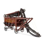 VERY FINE AND RARE SALESMAN SAMPLE ROAD MACHINE, ACME ROAD MACHINERY CO., FRANKFORT, NEW YORK, EARLY 20TH CENTURY