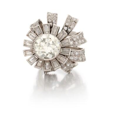 View 1. Thumbnail of Lot 39. DIAMOND RING   (ANELLO IN DIAMANTI).