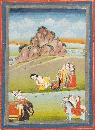 View 3. Thumbnail of Lot 36. INDIA, RAJASTHAN, PAHARI, LATE 18TH CENTURY AND 19TH CENTURY | FIVE INDIAN MINIATURES .