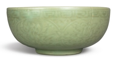 View 3. Thumbnail of Lot 1132. A CARVED 'LONGQUAN' CELADON-GLAZED 'LOTUS' BOWL, MING DYNASTY, 15TH CENTURY.
