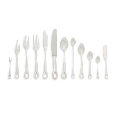 AN AMERICAN SILVER PADOVA PATTERN FLATWARE SERVICE, DESIGNED BY ELSA PERETTI FOR TIFFANY & CO., NEW YORK, LATE 20TH CENTURY