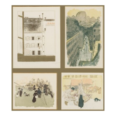 View 1. Thumbnail of Lot 92. Quelques aspects de la vie de Paris (Roger-Marx 56-68; Bouvet 58-70).