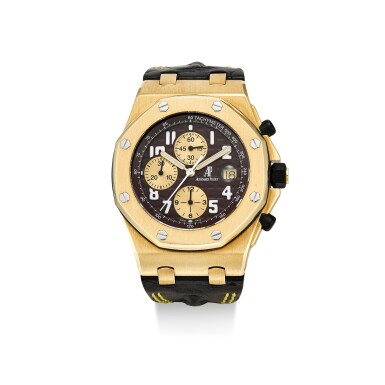 AUDEMARS PIGUET | ROYAL OAK OFFSHORE, REFERENCE 26007BA2.OO.D088CR.01  A LIMITED EDITION YELLOW GOLD CHRONOGRAPH WRISTWATCH WITH DATE, CIRCA 2003